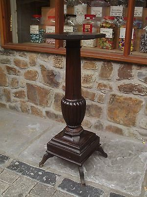 antique mahogany torcher/ plant stand