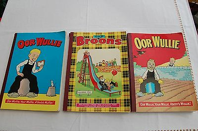 Oor Wullie Annuals 1973 & 1975 Plus  The Broons 1976