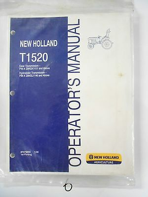 new holland t1520 tractor operator s owner s manual gear hs rh picclick com New Holland T1510 New Holland TN75