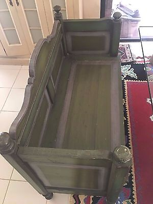 Antique Country  Dutch bench with hidden compartment