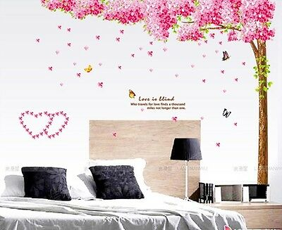 PINK  FAMILY TREE Vinyl Wall Decal Sticker Art Mural  baby kids BED room decor