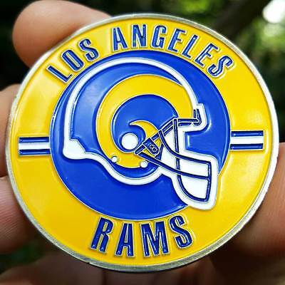 PREMIUM NFL Los Angeles Throwback Rams Poker Card Protector Collect Coin NEW