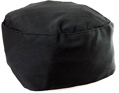 Black Chef Hat- Elastic Back - Free 2 Day Shipping
