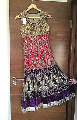 Beautiful Indian Anarkali Dress New With Tags   REDUCED..............