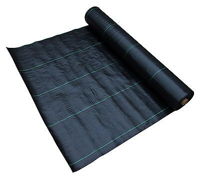 1 Metre Wide Weed Control Landscape Fabric Membrane Mulch Ground Cover, 100 GSM
