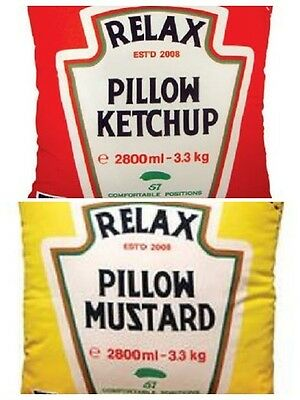 "HEINZ ""RELAX PILLOW MUSTARD"" and HEINZ ""RELAX PILLOW KETCHUP"" PILLOWCASES SET/2"