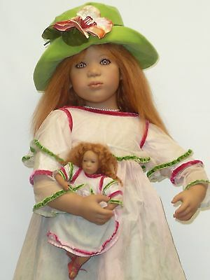 """32"""" Annette Himstedt Mirte w/Muff and Her Doll in Box"""