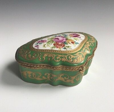 An Antique Signed Porcelain Painted Table Box
