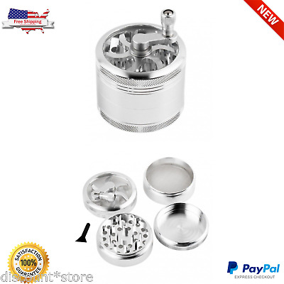 Tobacco Grinder Herb Spice 4 Piece Metal Herbal Zinc Alloy Smoke Crusher 2 Inch