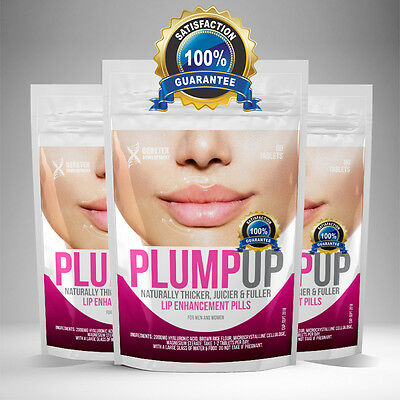 Lip Filler Plump Fuller Thicker Juicier Shaped Lip Enhancement Pills Tablets