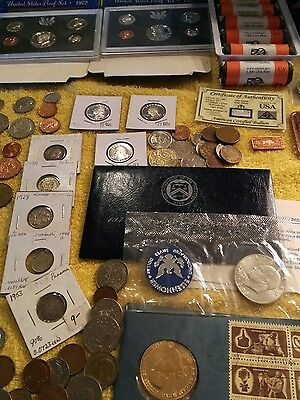 lot of foreign and American silver coins plus much much more