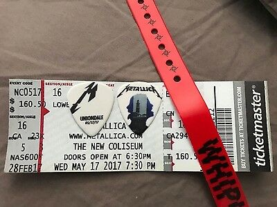 Metallica Guitar Pick 2017 Hardwired Uniondale NY 5/17/17  Rare Pick from Kirk