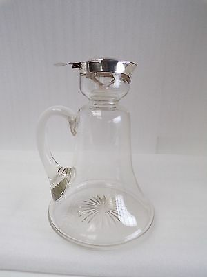 Edwardian Solid Silver & Glass decanter 1909.