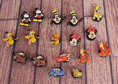 Disney Jibbitz Shoe Charm Authentic Genuine Licensed Character Sets Lot of 17
