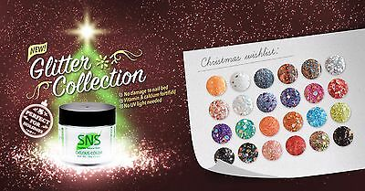 SNS Nail Gelous Colors GL Glitter Collection Dipping Powder NO U/V. NO SMELL