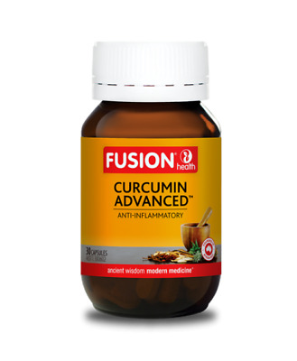 Fusion Health - Curcumin Advanced - Highest Strength - Three Sizes + Free Sample