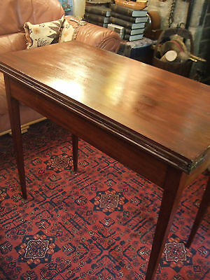 Antique Mahogany  Card Table With Unusual Fold And Swivel Action