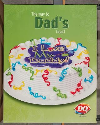 Dairy Queen Promotional Poster The Way To Dad's Heart dq2