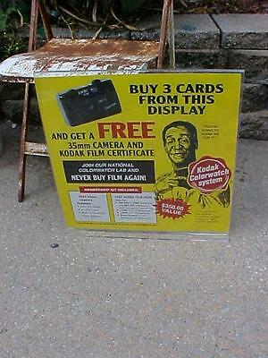 "Vintage Kodak Colorwatch Add sign Bill Cosby advertising board 18""x19"" original"