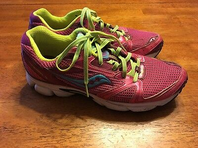 Women's Saucony Cohesion5 Pink Running Shoes Tennis Size 10 GUC Workout Athletic