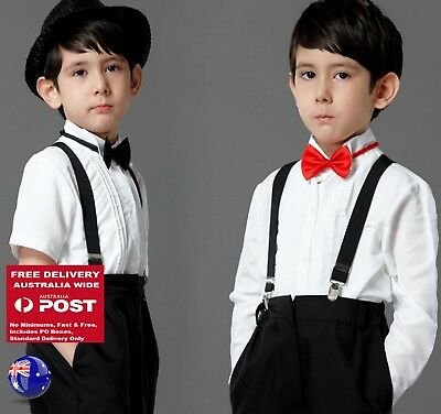 Page Boy Child Kid Party Wedding Long Short sleeves White Formal Shirt 2-12Years