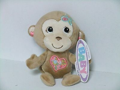 Mary Meyer Soft and Cuddly Stuffed Monkey Baby Rattle