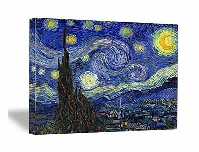 Starry Night by Van Gogh Fine Art Print Painting Reproduction on Canvas Framed