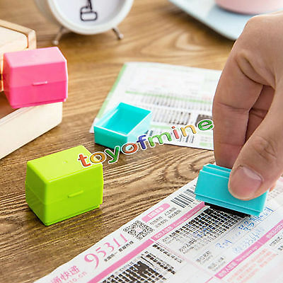 1*Office Guard Your ID Mini Roller Stamp Stamp Messy Code Self-Inking new