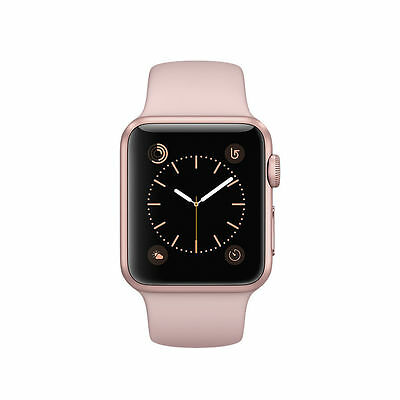 Apple Watch Series 1 38mm Rose Gold Aluminum Case With Pink Sand Sport Band New*