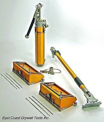 "TapeTech 10"" & 12"" drywall Flat Box set w/ adj handle and Pump Free Blades!"
