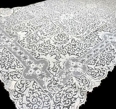 Beautiful vintage cream intricate lace rectangle tablecloth. In lovely condition
