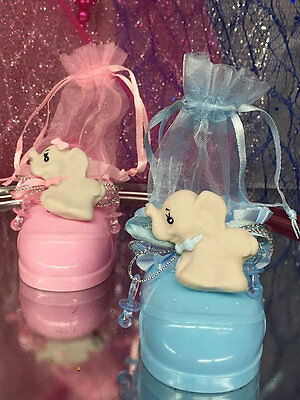 Baby Shower Baby Elephant Shoes Favor Keepsakes Gift 10 Ct