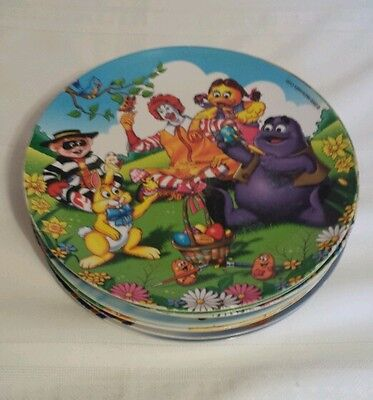 Set Of 9 Mcdonalds Melanine Collectible Plates
