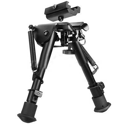 "Stud Spring 6""-9"" Rifle Bipod Picatinny Rail Mount 20mm Sling Adapter Adjustable"