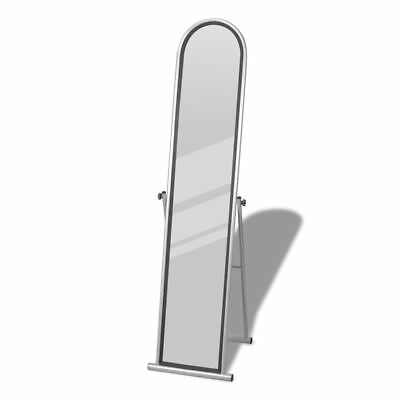 Floor Mirror Free Standing Full Length Rectangular Gray Finish Cheval Dressing