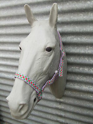 Ecotak purple check halter/headstall  Ecotak