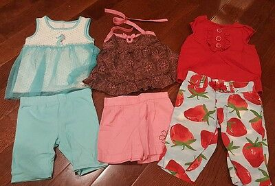 Lot of 3 Baby Girl Summer Sets - Size 2T