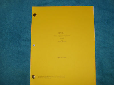 Psych Tv Pilot Script - James Roday - Dule Hill - Maggie Lawson - Corbin Bernsen