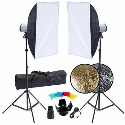 Studio Photo Softbox Tripod 2 x 120 W Flash Strobe Lighting Studio Light Kit