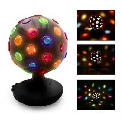 6 Inch Rotating Disco Lamp Light Ball - Multi Colour Dj Party Light Disco Ball