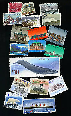 Canada  Stamps   High  Value  Lot  of  Used