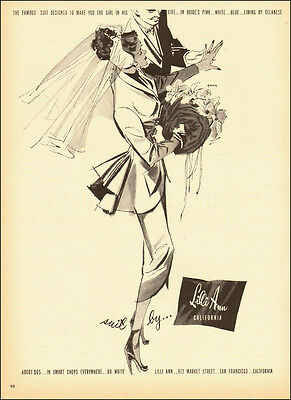 1940s vintage fashion AD, Suit by Lily Anne, California, nice art!  060214