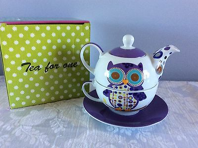 Unwanted Gift Brand New Tea For One Teapot,cup And Saucer