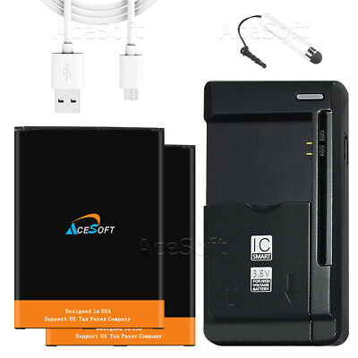 2x 5280mAh battery+home Charger For AT&T Samsung Galaxy Mega 6.3 i527 SmartPhone