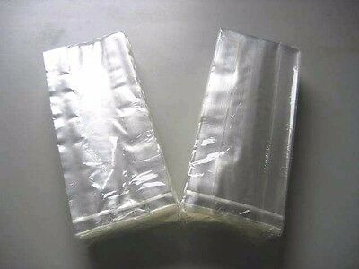 500 Food Plastic Bags For Sealer Sealing Machine 230Mmx100Mm+50Mm With Gusset