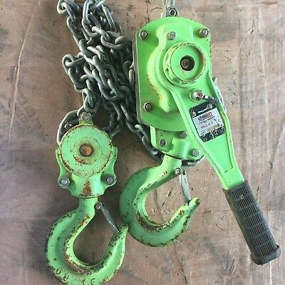 Lever Hoist Chain Block 6 Ton x 1.6 mtr Drop Lift Loadset AS Approved