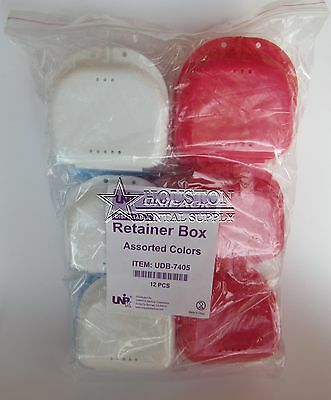 12 Dental Storage Container Ortho Retainer Box Mouthguard Denture Case ASSORTED