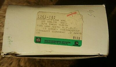 New Old Stock WHITE-RODGERS 1361-102 Zone a Flow Valve, 3/4 In