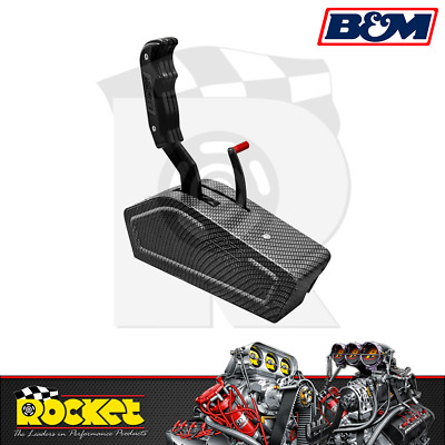 B&M Stealth Pro-Ratchet Shifter CARBON (Ford/GM 3 & 4 Speed Trans) - BM81119