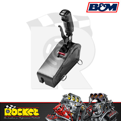 B&M Stealth Magnum Pro Grip Shifter CARBON (Ford/GM 3 & 4 Speed Trans) - BM81059